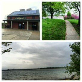 May 11, 2013- making the most of a rainy day to avoid lines at Sullivan's at Castle Island