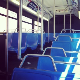 May 13, 2013- leaving work early for a sick day means an empty bus ride